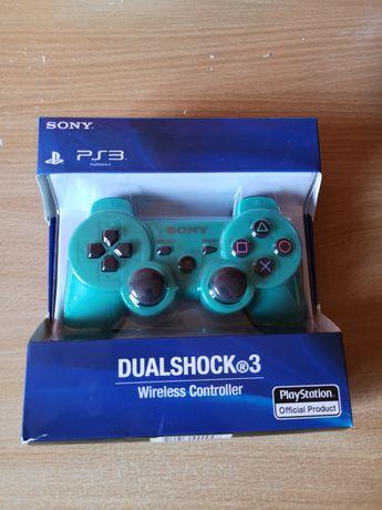 Nowy Pad bezprzewodowy Sony dual shock playstation 3 zielony