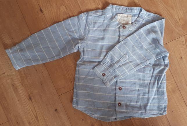 Koszula chłopięca (len+bawełna), rozm. 86