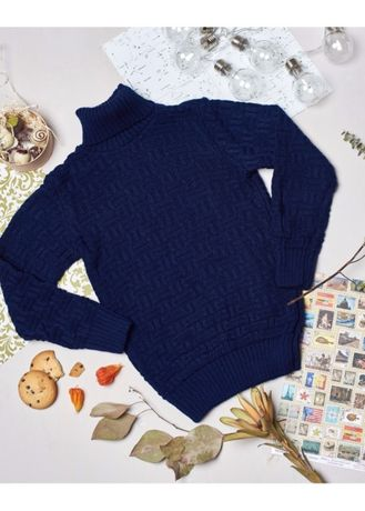 вязаный свитер для мальчика р122-128