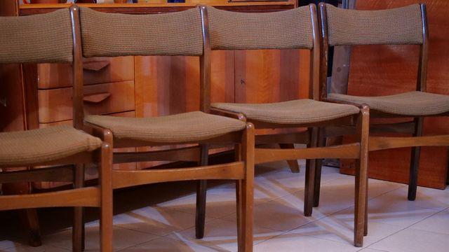Krzesła (komplet 4 szt.), vintage, PRL