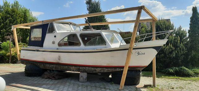 Jachtmotorowy stalowy motorowka 15KM Diesel łódka