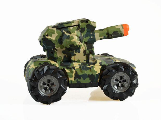Czołg zdalnie sterowany mech strzelajacy RC wojskowy