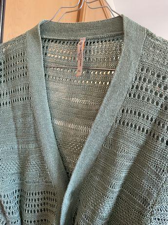Casaco crochet Throtleman Verde-água XL