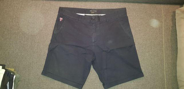 Spodenki spodnie Chino Tommy Hilfilger granatowe oryginalne r. L 34