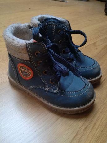 Chłopięce buty buciki zimowe kozaki rozmiar 22