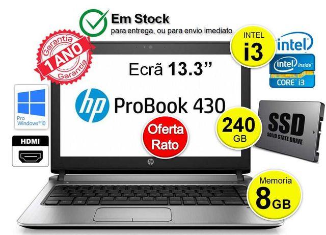 HP ProBook 430   CPU INTEL i3 4030U   8GB   SSD 256   Ecrã 13.3p
