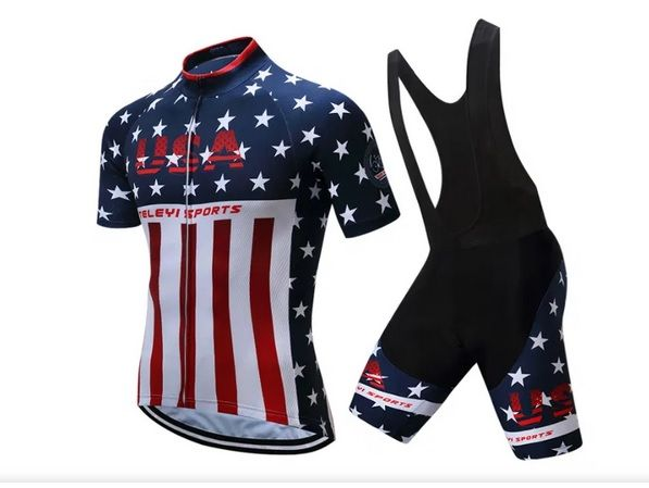 Strój rowerowy kolarski mtb, komplet na rower koszulka i spodenki