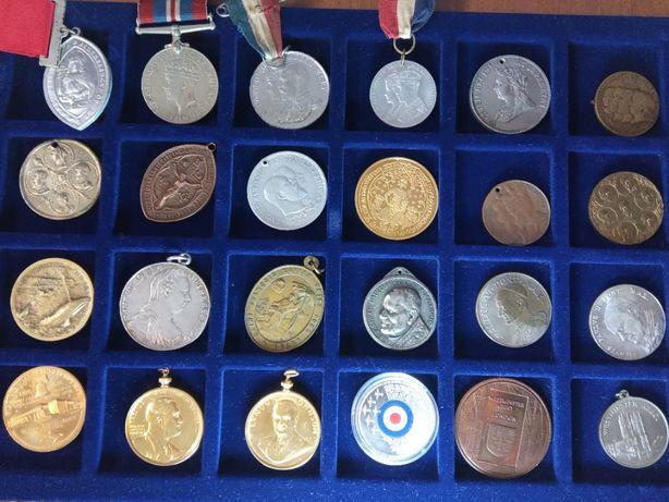 Серебро медали Англии церковные медали США Ватикан Франция военные