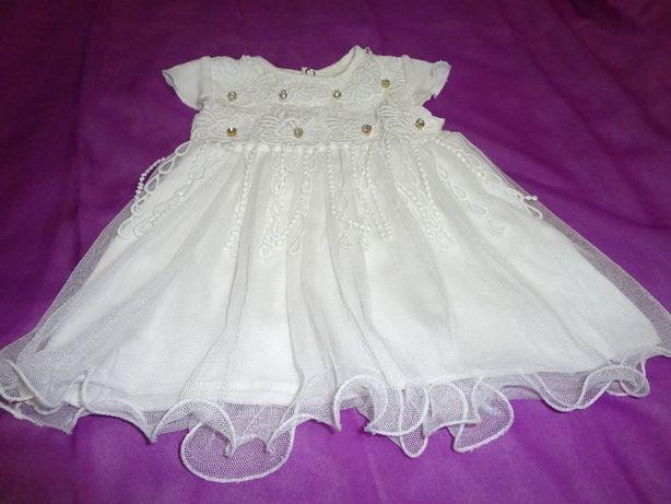 Красивое и нарядное платье + подарок для Вашей принцессы на 3-6 мес.