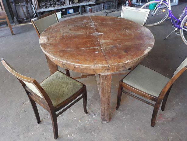 Stół i 4 krzesła do renowacji