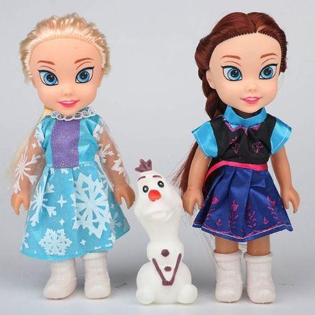 Kraina Lodu zestaw lalek Elsa, Anna i bałwan Olaf FROZEN nowe