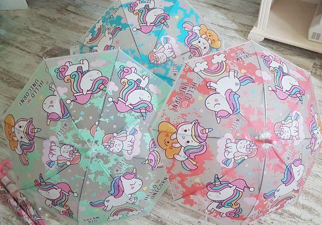 Зонтик Единорог, зонт-тросточка детский
