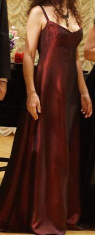 Платье на новый год сцену выпускной винный марсала в пол вечернее