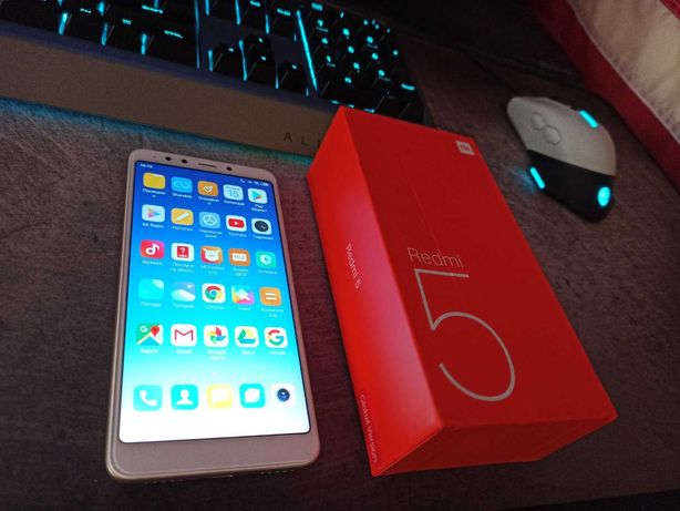 Xiaomi Redmi 5 Gold (2/16) Ідеальний стан, обмін на iPhone SE