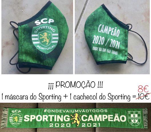 ¡ Promoção ! = Máscara do Sporting + Cascol do Sporting