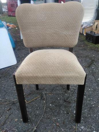 Krzesła Stare Dębowe Tapicerowane