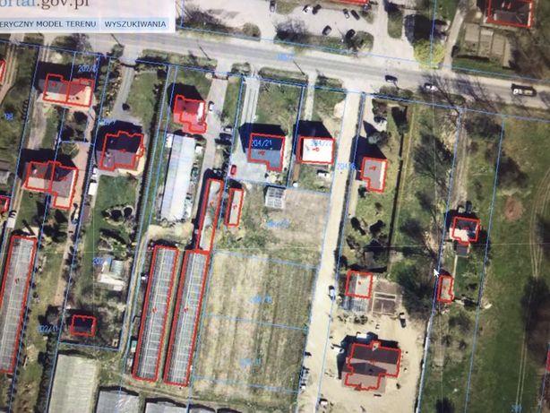 Działka 1000 mkw, warunki zabudowy, wydane pozwolenie. Media, gaz.