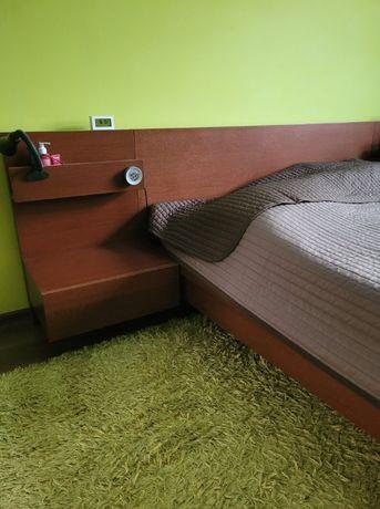 Łóżko Ikea Malm 140x200 i 2 szafki/szafka nocne