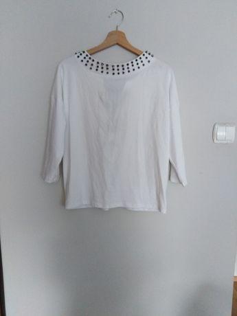 Biała bluzka M z wiązaniem na plecach