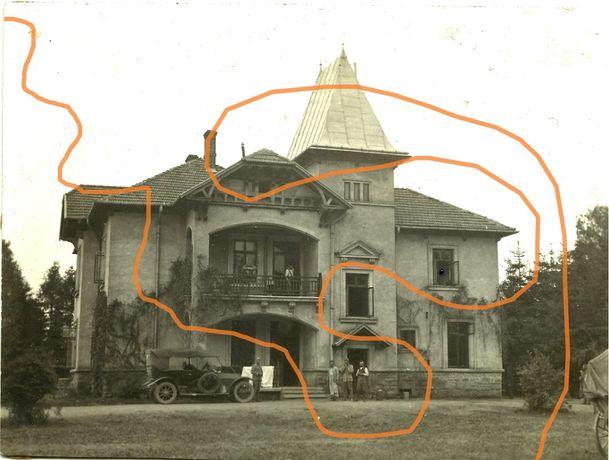 Markowce, dwór, samochód, żołnierze, 1914