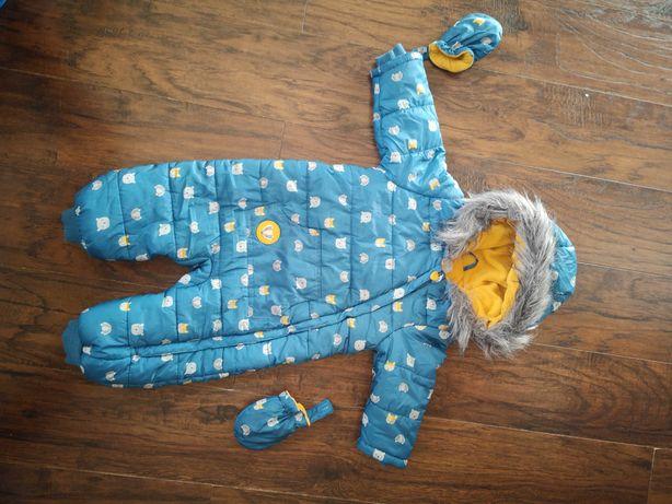 Kombinezon zimowy niemowlęcy + ZABAWKA GRATIS!