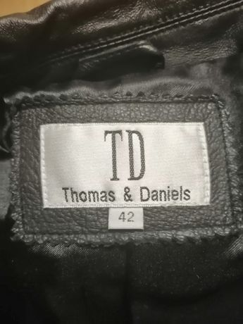 ЖЕНСКОЕ пальто кожаное бренд TD