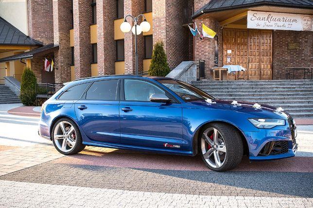 Luksusowy samochód auto do ślubu Audi RS6 Performance 605KM wynajem
