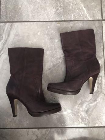 Продам шкіряні чоботи 37 розмір