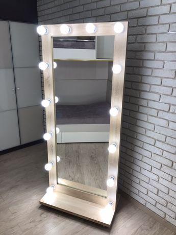Зеркало с подсветкой напольное в полный рост.