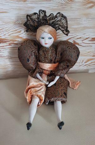 R.Ingles porcelanowa lalka kolekcjonerska arlekin Hiszpania hand made