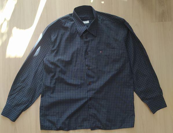 Granatowa koszula w kratę Tommy Hilfiger