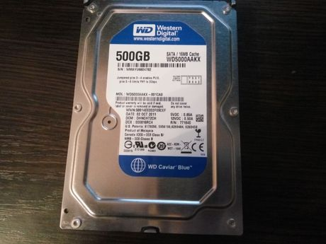 Жесткий диск Western Digital Blue 500GB 7200rpm 16MB WD5000AAKX