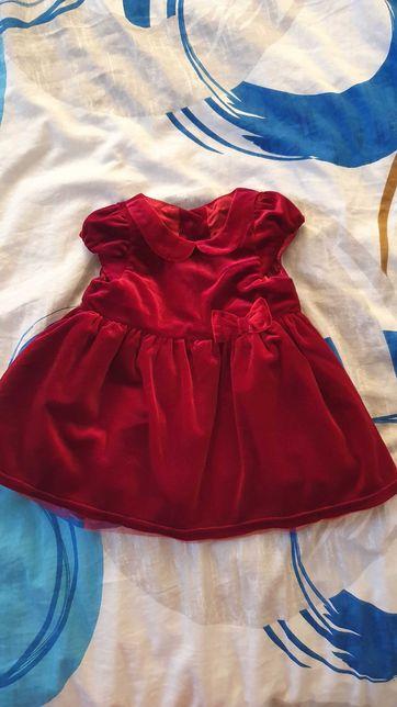 Sukieneczka welurowa rozmiar 74