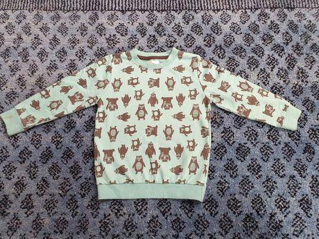 Bluza bluzka MIŚKI ładny miętowy kolor r 104