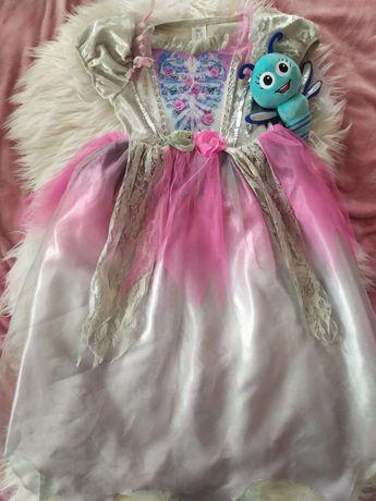 Stroj przebranie suknia na halloween 5-6 lat dama