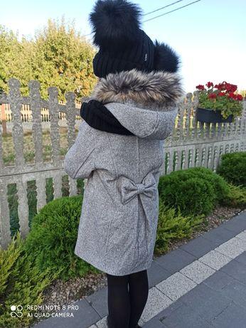 Płaszczyk zimowy dla dziewczynki 4 kolory 116,122,128,134,140,146,152