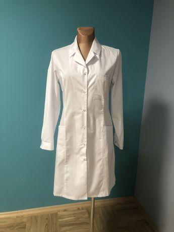 Fartuch medyczny lekarski biały długi rękaw primarius