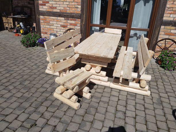 Meble ogrodowe drewniane. Zestaw ogrodowy. Solidne transport