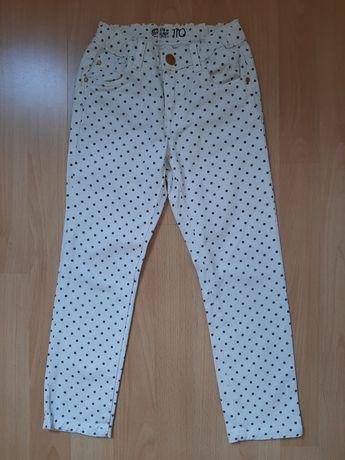 CUBUS spodnie w kropki dla dziewczynki 110cm