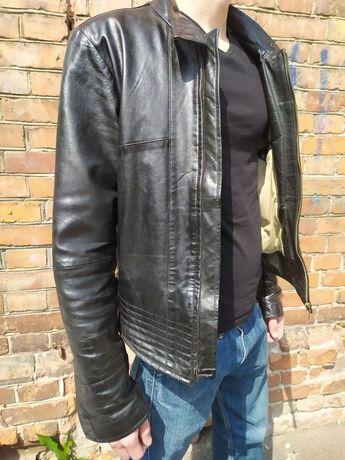 Кожаная куртка черная мужская косуха