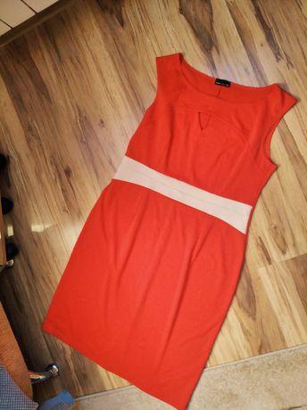 Sukienka różowa neonowa 44