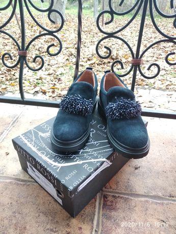 Туфли замшевые женские, новые, Vitto Rossi оригинал 36 размер