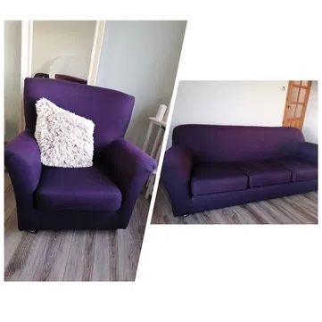 Kanapa 3-osobowa, fotel uszak, sofa