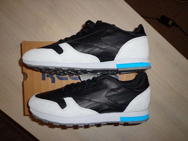 Новые мужские кожаные кроссовки Reebok Classic CL Leather