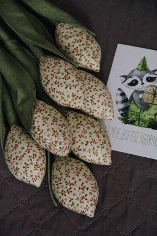 Букет текстильных тюльпанов