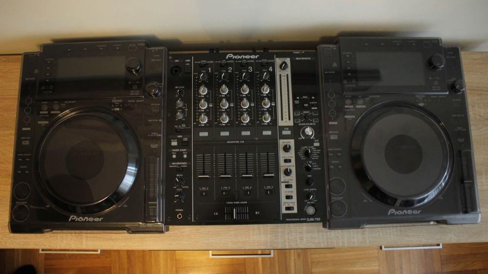 Zestaw 2 x Pioneer CDJ 900 Nxs (Z Decksaverami) + DJM 750-K