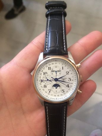 Zegarek Longines Master Collection Moonphases Black-Silver-Gold-White