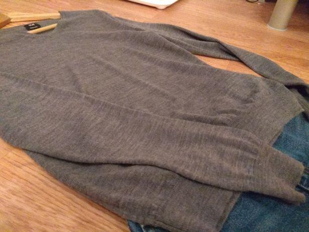 Sweter z wełny merynosowej grafit