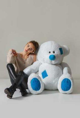 Классная модель! Белый мишка с латками, плюшевый медведь 150 см