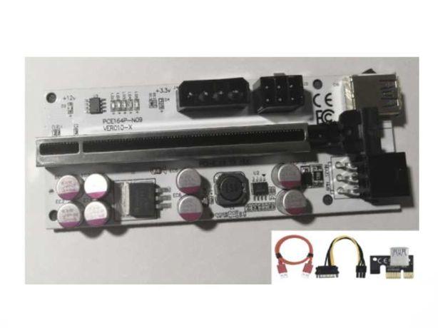 RISER 10X PLUS - 2021 MINING PCI-E X1 -> X16 - NOVO SELADO